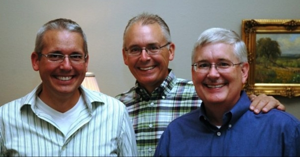 The Kiker Brothers of 3: Patrick Kiker, Tim Kiker and Roger Kiker (left-to-right)