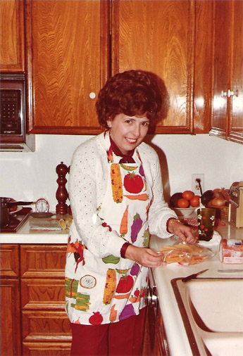 This is a picture of my Mom cooking-up something good in the kitchen for Christmas in 1980. It was the last