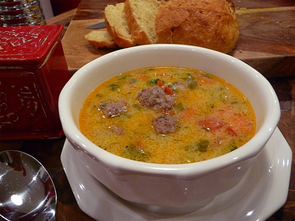 dinah shore's meatball soup compliments of betty's cook nook