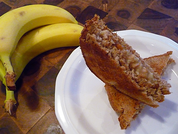dad's pb and banana sammy