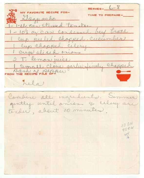 lela swinny's gazpacho recipe