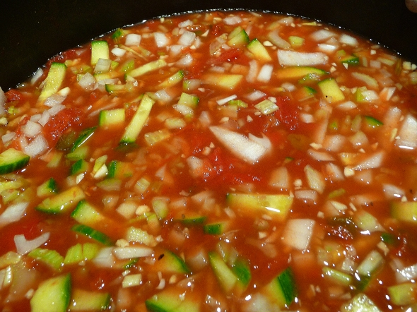 lela's gazpacho soup