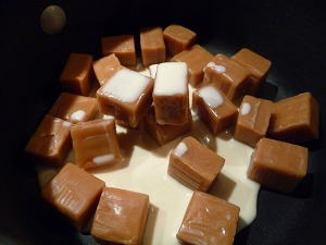caramels present and ready to melt
