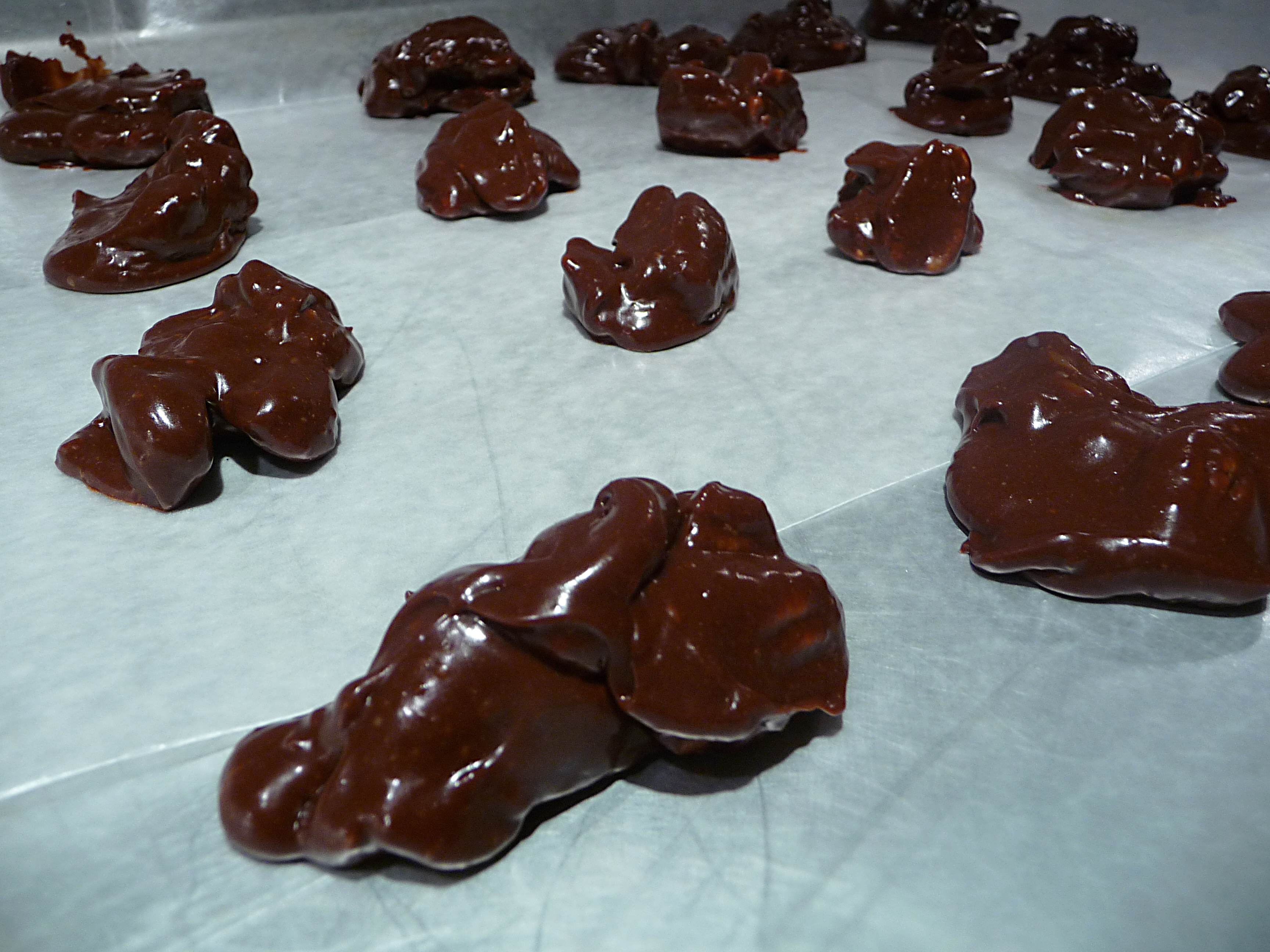 pecan clusters... dropped and ready to cool