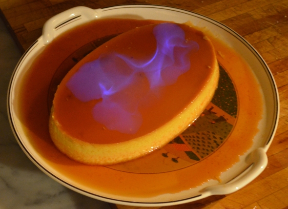 Pumpkin Flan On Fire