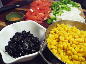 some of the ingredients for mom's beef tamale pie