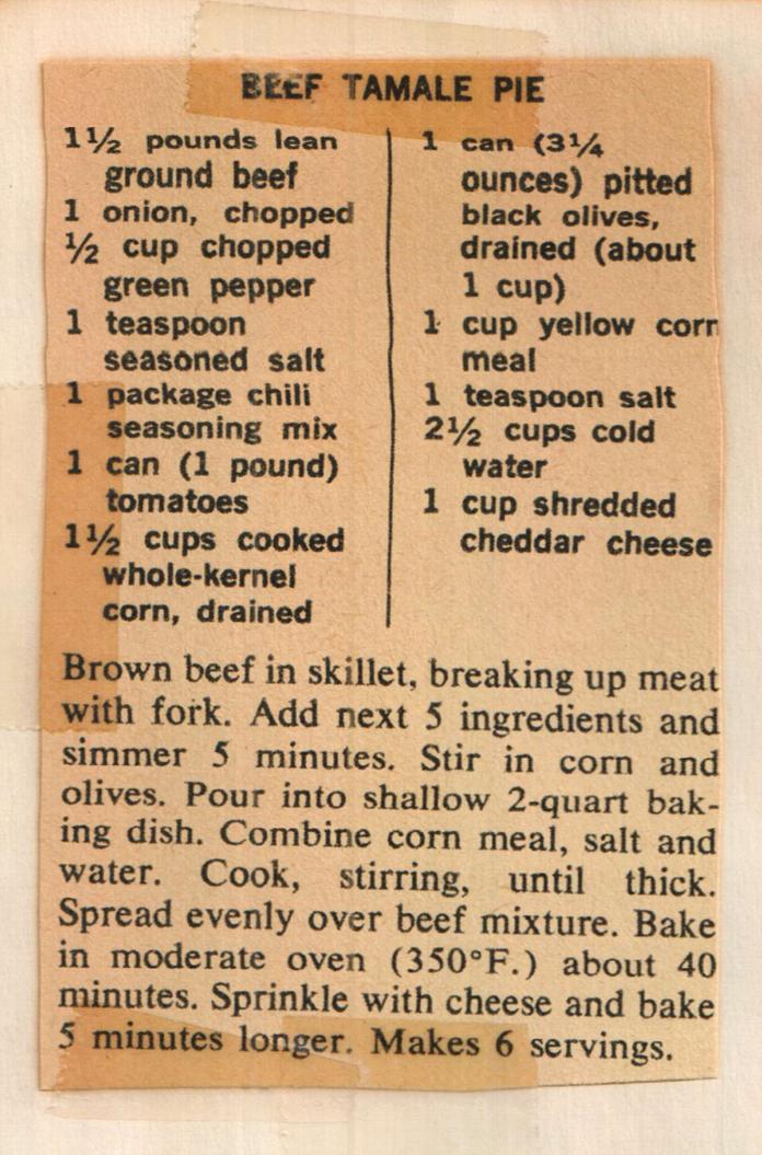 Old Fashioned Chili Recipe