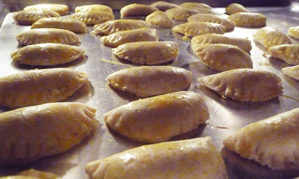 fresh in the oven ~ hot mushroom turnovers