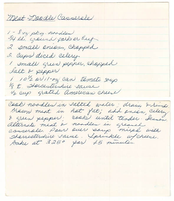mom's original meat noodle casserole recipe