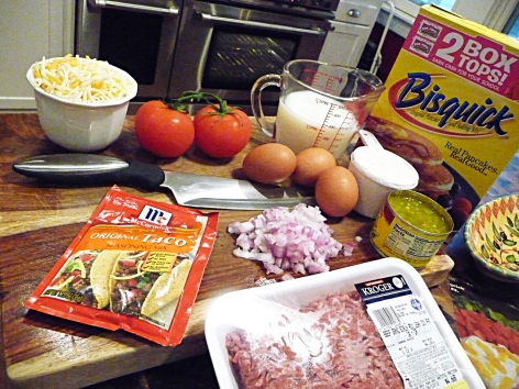 impossible taco pie ingredients