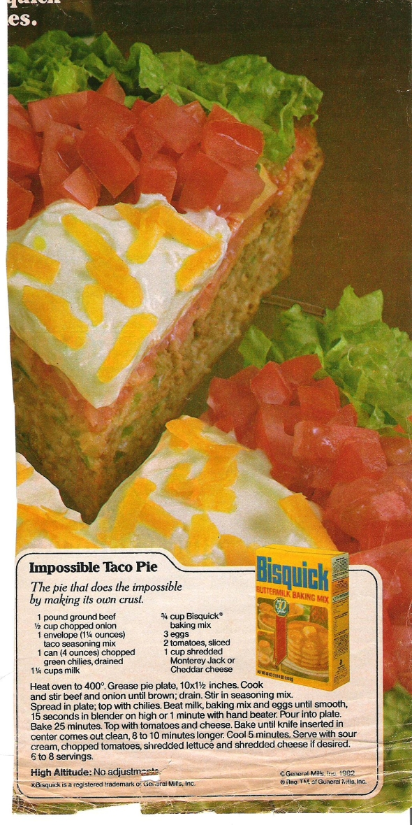 mom's impossible taco pie recipe. impossible? think again!