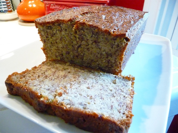 The Finished Piece ~ Banana Nut Loaf Cake