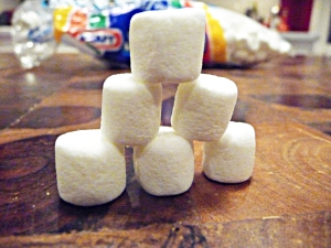 enjoy the big taste of mini marshmallows