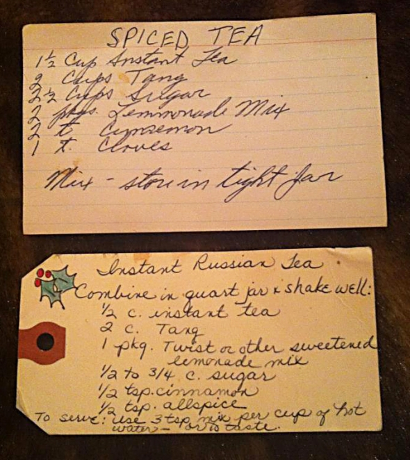 Sweetness! Cousin Alison sent me these recipes from her mom's kitchen. Family rocks!