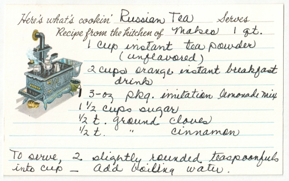 a scan of mom's original russian tea recipe