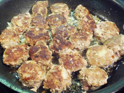 swedish meatballs ~ browned and ready for the sauce