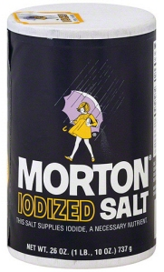 Morton Iodized Salt ~ When It Rains It Pours