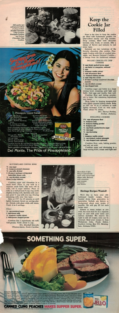 A Scan Of Mom's Pineapple Cookies Recipe From A 1979 Issue Of Southern Living
