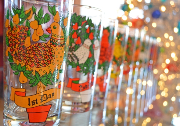 Another Pic Of Mom's Twelve Days Of Christmas Glasses