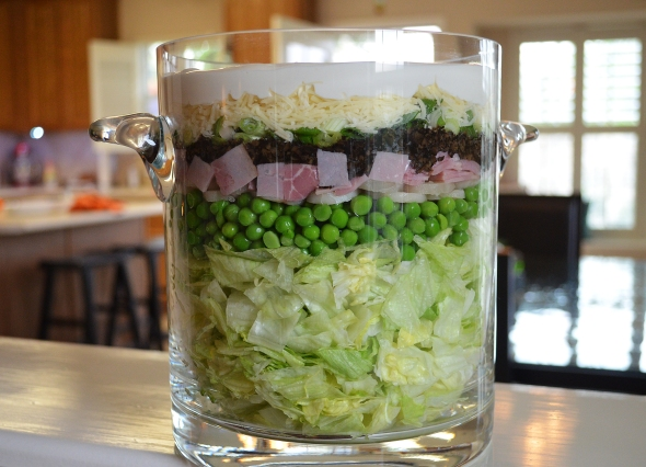 A Layered Salad Recipe From Betty's Cook Nook