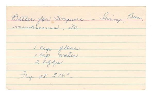 Tempura Batter By Betty's Cook Nook