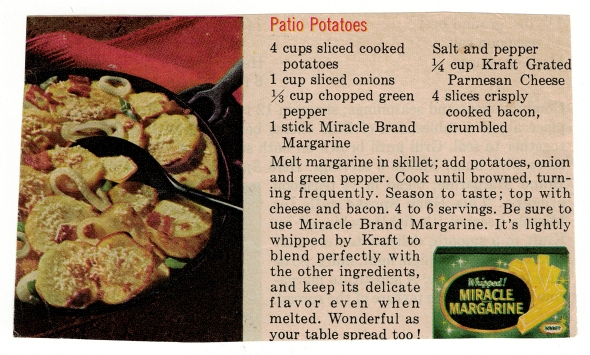 A Patio Potatoes Recipe Scan From Betty's Cook Nook