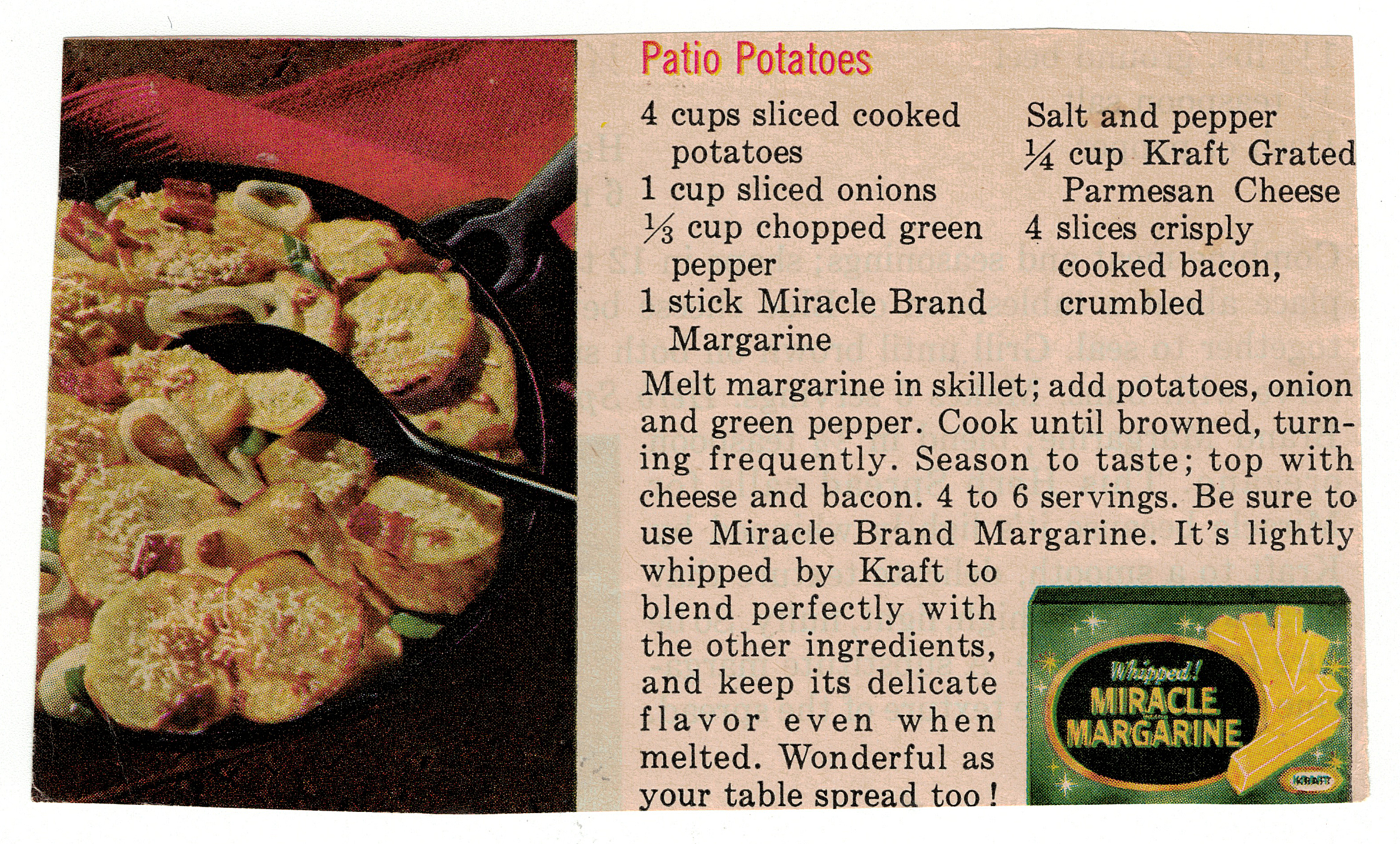 A Patio Potatoes Recipe Scan From Bettyu0027s Cook Nook