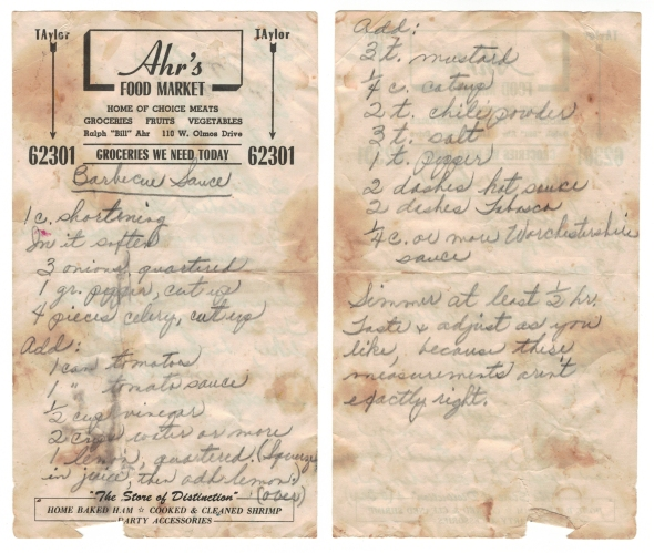 Nanny's Original Barbecue Sauce Recipe