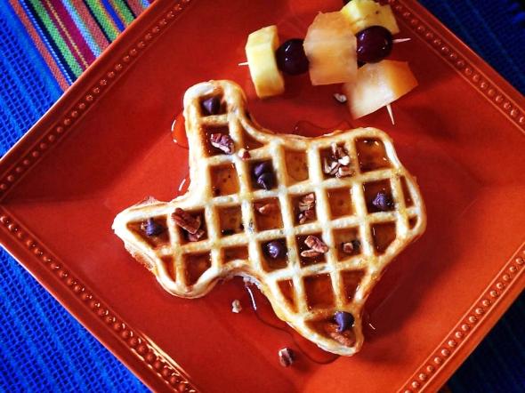 A Texas Shaped Waffle
