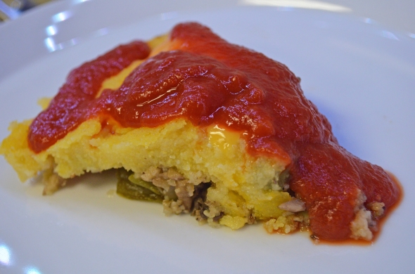 A Beef Polenta Pie Recipe From Betty's Cook Nook