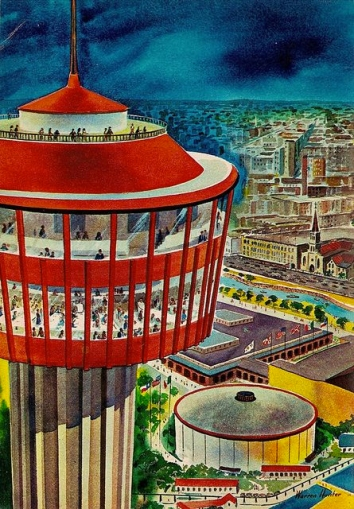 An Artist's Rendering Of The 1968 World's Fair in San Antonio