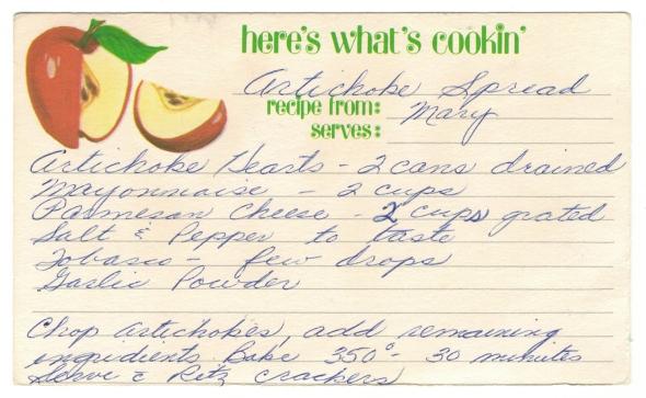 An Artichoke Spread Recipe From Betty's Cook Nook