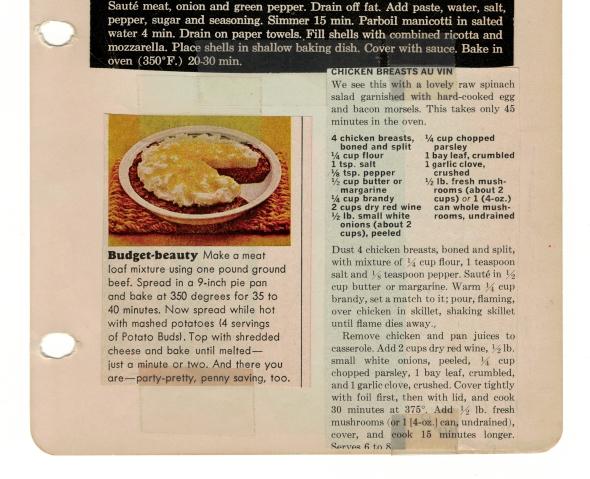 Chicken Breasts Au Vin Recipe
