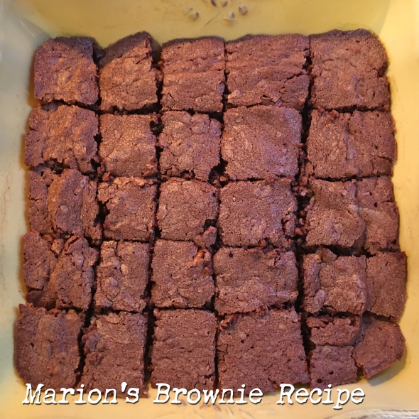 Marion's Brownie Recipe from Betty's Cook Nook