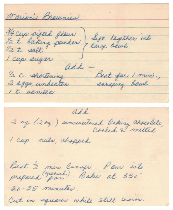 Marion's Brownie Recipe