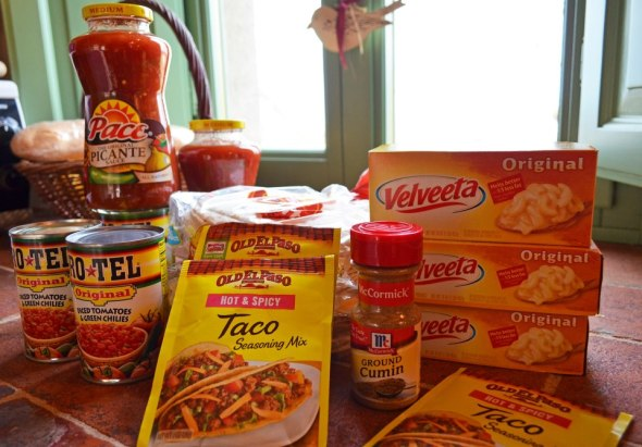 Velveeta, taco seasoning, picante sauce and Rotel ... In Tuscany!
