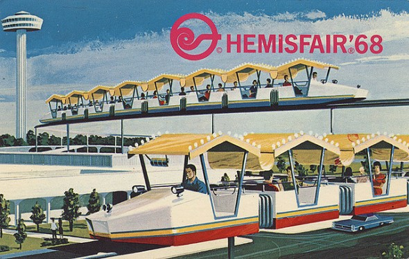 A postcard from HemisFair 1968, San Antonio, Texas