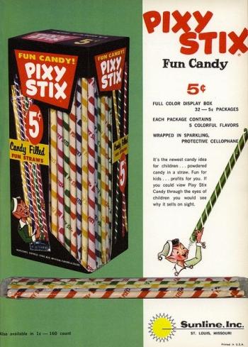 A Vintage Pixy Stix Print Ad