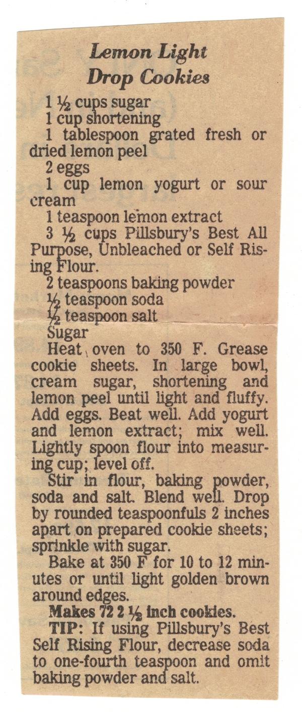 Lemon Light Drop Cookie Recipe