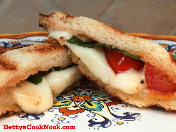 Treat Time Toaster Toasted Caprese Sandwich Recipe