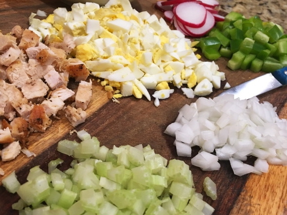 Macaroni Chicken Salad Ingredients