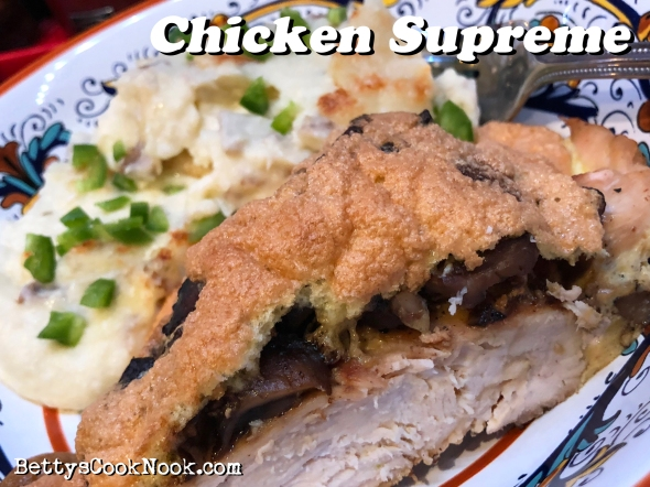 Chicken Supreme Recipe From Betty's Cook Nook