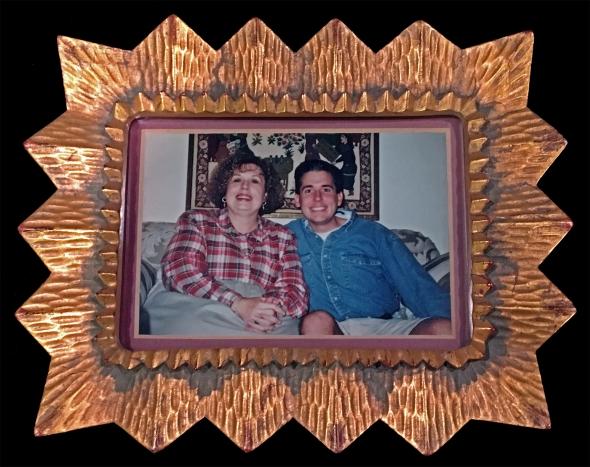 julie and patrick in starburst frame