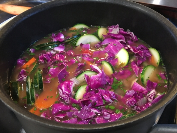 Use Red Cabbage For Minestrone Soup... For A Pop Of Color!