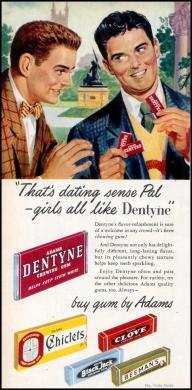 Subtleness in advertising: ALWAYS buy gum by Adams!