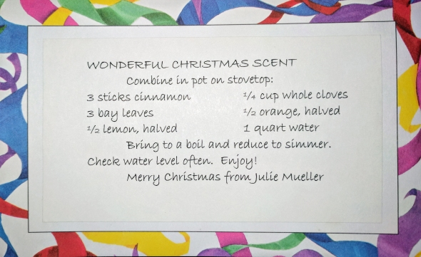Wonderful Christmas Scent Recipe