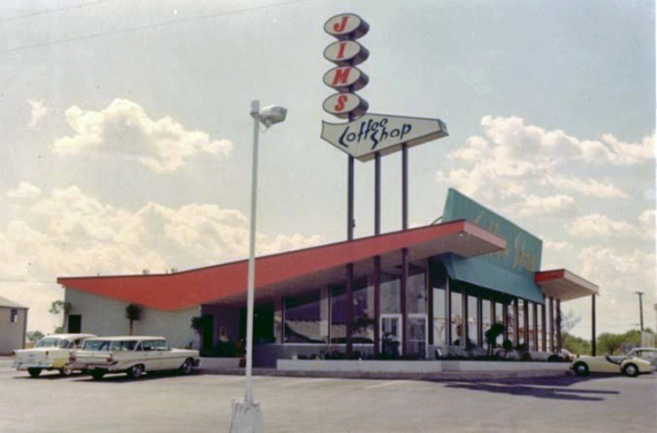 Jim's No 1 Restaurant Broadway at Loop 410 Circa 1963
