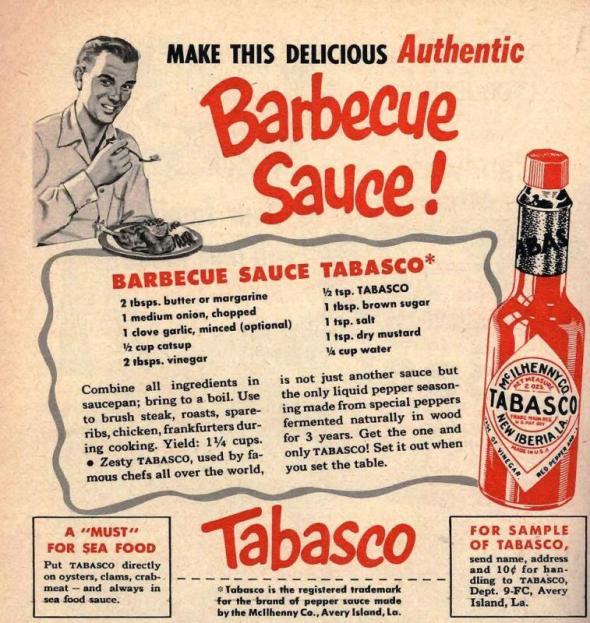 Victorian Tabasco BBQ Sauce Recipe