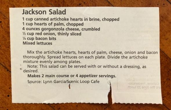Jackson Salad Recipe
