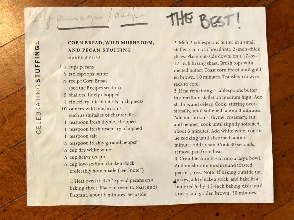 Wild Mushroom and Pecan Stuffing